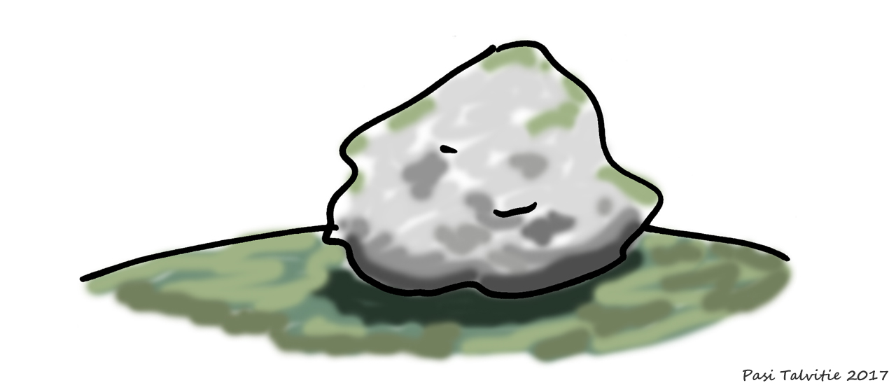 A drawing of an erratic